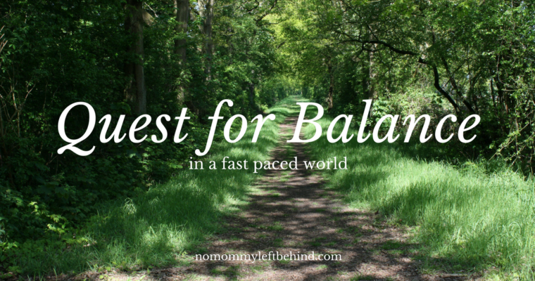 My Quest for Balance: Scheduling